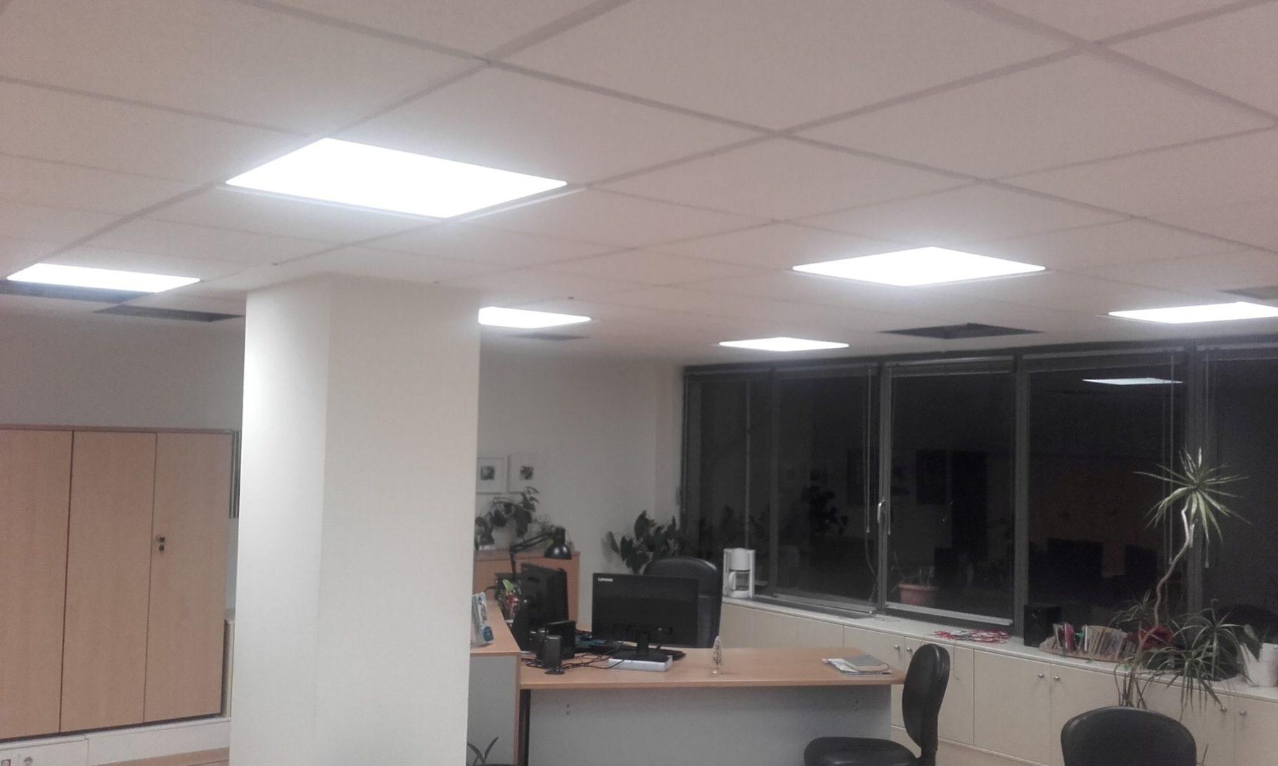 Νεο μεγάλο έργο αντικατάστασης φωτιστικών φθορισμού με φωτιστικά LED